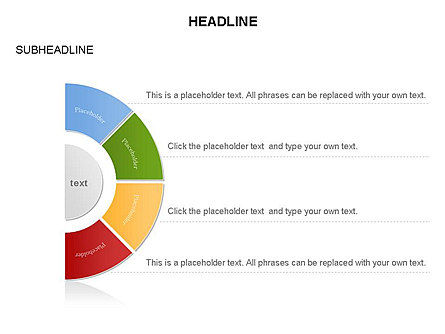 Staged Semicircle Diagram, Slide 17, 03416, Pie Charts — PoweredTemplate.com