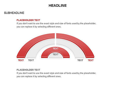 Staged Semicircle Diagram, Slide 28, 03416, Pie Charts — PoweredTemplate.com