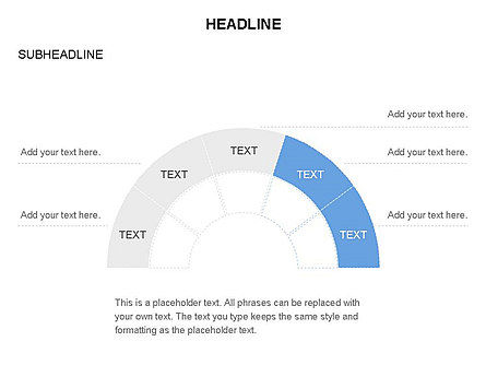 Staged Semicircle with Sectors, Slide 17, 03417, Stage Diagrams — PoweredTemplate.com