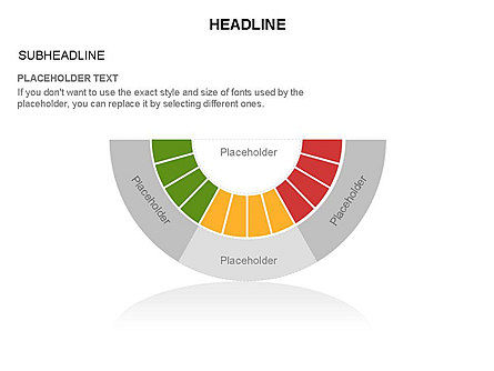 Staged Semicircle with Sectors, Slide 23, 03417, Stage Diagrams — PoweredTemplate.com