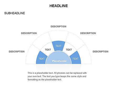 Staged Semicircle with Sectors, Slide 29, 03417, Stage Diagrams — PoweredTemplate.com