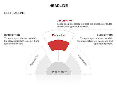 Staged Semicircle with Sectors, Slide 30, 03417, Stage Diagrams — PoweredTemplate.com