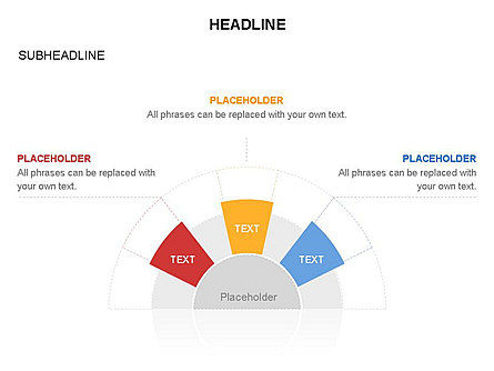 Staged Semicircle with Sectors, Slide 31, 03417, Stage Diagrams — PoweredTemplate.com