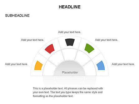 Staged Semicircle with Sectors, Slide 36, 03417, Stage Diagrams — PoweredTemplate.com