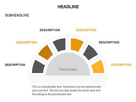 Staged Semicircle with Sectors, Slide 37, 03417, Stage Diagrams — PoweredTemplate.com