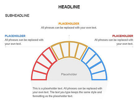 Staged Semicircle with Sectors, Slide 39, 03417, Stage Diagrams — PoweredTemplate.com