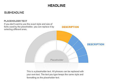Staged Semicircle with Sectors, Slide 40, 03417, Stage Diagrams — PoweredTemplate.com