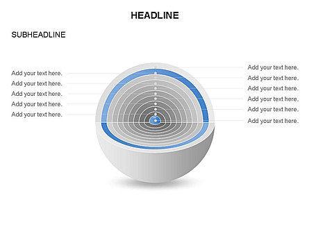 Cutaway Core Sphere Diagram, Slide 10, 03418, Stage Diagrams — PoweredTemplate.com