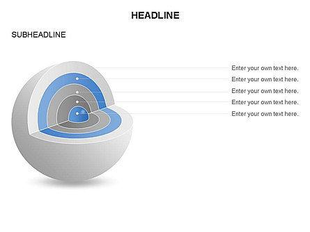 Cutaway Core Sphere Diagram, Slide 14, 03418, Stage Diagrams — PoweredTemplate.com