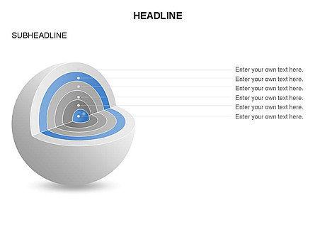 Cutaway Core Sphere Diagram, Slide 15, 03418, Stage Diagrams — PoweredTemplate.com