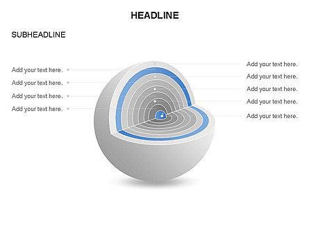 Cutaway Core Sphere Diagram, Slide 18, 03418, Stage Diagrams — PoweredTemplate.com
