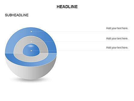 Cutaway Core Sphere Diagram, Slide 2, 03418, Stage Diagrams — PoweredTemplate.com