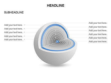 Cutaway Core Sphere Diagram, Slide 20, 03418, Stage Diagrams — PoweredTemplate.com