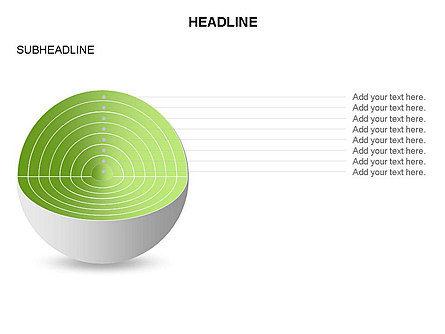 Cutaway Core Sphere Diagram, Slide 22, 03418, Stage Diagrams — PoweredTemplate.com