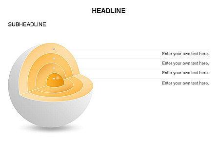 Cutaway Core Sphere Diagram, Slide 23, 03418, Stage Diagrams — PoweredTemplate.com