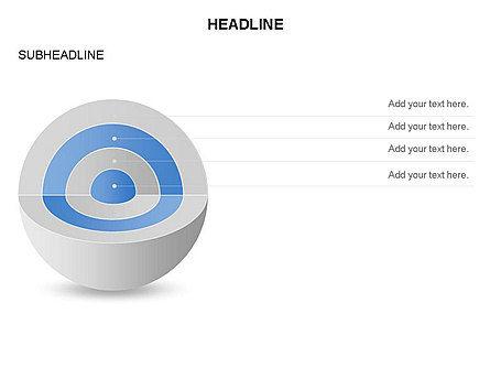 Cutaway Core Sphere Diagram, Slide 3, 03418, Stage Diagrams — PoweredTemplate.com