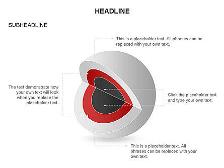 Cutaway Core Sphere Diagram, Slide 30, 03418, Stage Diagrams — PoweredTemplate.com