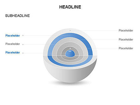 Cutaway Core Sphere Diagram, Slide 5, 03418, Stage Diagrams — PoweredTemplate.com