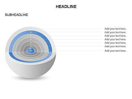 Cutaway Core Sphere Diagram, Slide 6, 03418, Stage Diagrams — PoweredTemplate.com