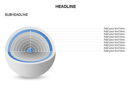 Cutaway Core Sphere Diagram, Slide 8, 03418, Stage Diagrams — PoweredTemplate.com