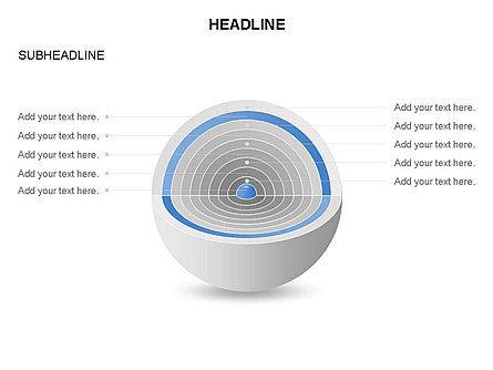 Cutaway Core Sphere Diagram, Slide 9, 03418, Stage Diagrams — PoweredTemplate.com