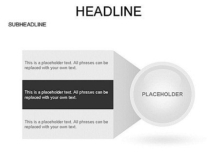 Circle with Options, Slide 18, 03420, Stage Diagrams — PoweredTemplate.com
