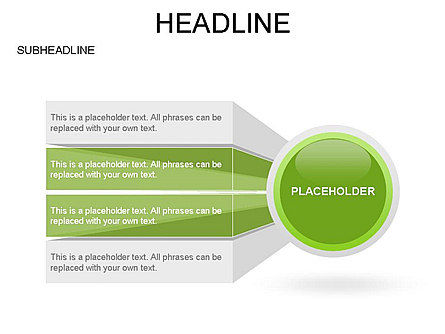 Circle with Options, Slide 19, 03420, Stage Diagrams — PoweredTemplate.com