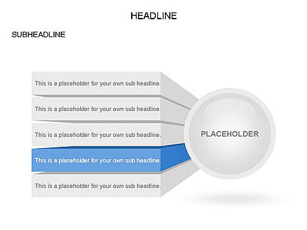 Circle with Options, Slide 3, 03420, Stage Diagrams — PoweredTemplate.com