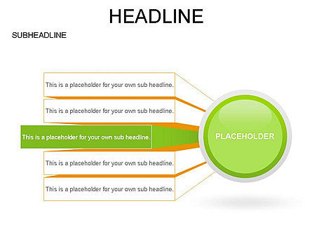 Circle with Options, Slide 7, 03420, Stage Diagrams — PoweredTemplate.com