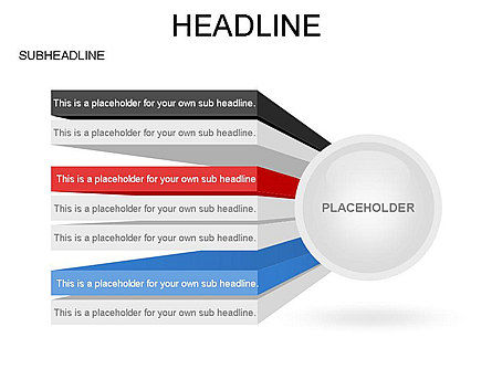 Circle with Options, Slide 8, 03420, Stage Diagrams — PoweredTemplate.com