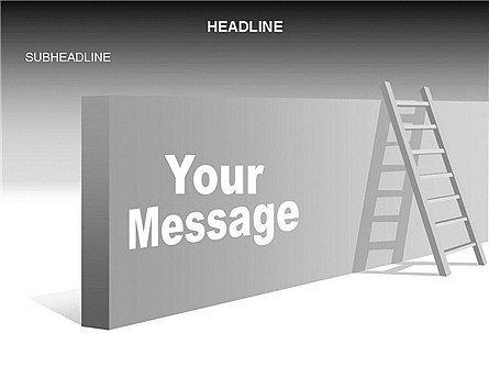 Ladder on Wall, Slide 4, 03421, Business Models — PoweredTemplate.com
