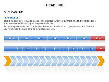 Timelines Toolbox, Slide 13, 03423, Timelines & Calendars — PoweredTemplate.com