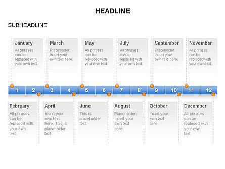 Timelines Toolbox, Slide 14, 03423, Timelines & Calendars — PoweredTemplate.com
