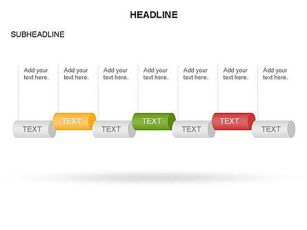 Hollow Cylinder Timeline Toolbox, Slide 15, 03424, Timelines & Calendars — PoweredTemplate.com
