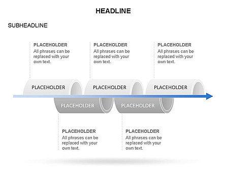 Hollow Cylinder Timeline Toolbox, Slide 27, 03424, Timelines & Calendars — PoweredTemplate.com