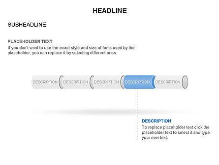 Hollow Cylinder Timeline Toolbox, Slide 8, 03424, Timelines & Calendars — PoweredTemplate.com