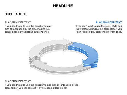 Arrow Circle Diagram, Slide 21, 03425, Process Diagrams — PoweredTemplate.com