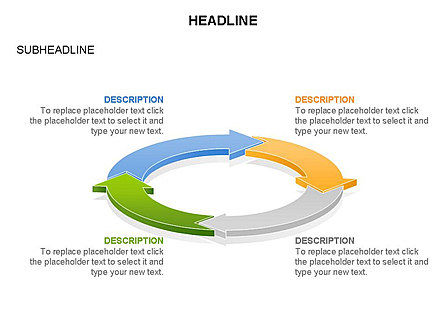 Arrow Circle Diagram, Slide 24, 03425, Process Diagrams — PoweredTemplate.com