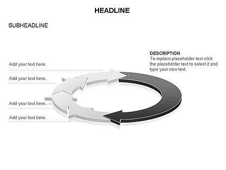 Arrow Circle Diagram, Slide 25, 03425, Process Diagrams — PoweredTemplate.com