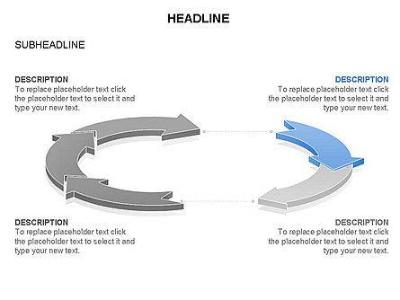 Arrow Circle Diagram, Slide 26, 03425, Process Diagrams — PoweredTemplate.com