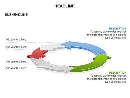 Arrow Circle Diagram, Slide 29, 03425, Process Diagrams — PoweredTemplate.com