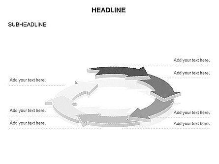 Arrow Circle Diagram, Slide 36, 03425, Process Diagrams — PoweredTemplate.com