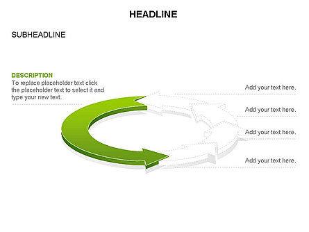 Arrow Circle Diagram, Slide 37, 03425, Process Diagrams — PoweredTemplate.com
