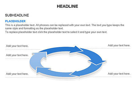 Arrow Circle Diagram, Slide 40, 03425, Process Diagrams — PoweredTemplate.com