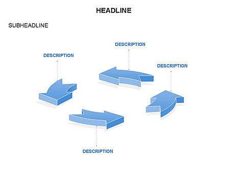 Arrow Circle Diagram, Slide 43, 03425, Process Diagrams — PoweredTemplate.com