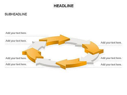 Arrow Circle Diagram, Slide 47, 03425, Process Diagrams — PoweredTemplate.com