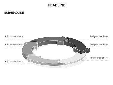 Arrow Circle Diagram, Slide 51, 03425, Process Diagrams — PoweredTemplate.com
