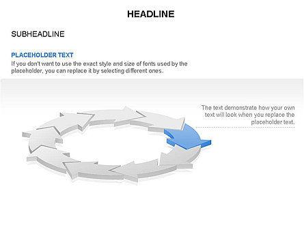 Arrow Circle Diagram, Slide 9, 03425, Process Diagrams — PoweredTemplate.com