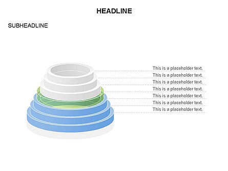 Pyramid of Rings, Slide 12, 03426, Stage Diagrams — PoweredTemplate.com