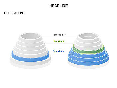 Pyramid of Rings, Slide 19, 03426, Stage Diagrams — PoweredTemplate.com